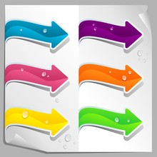 Colored Arrows With Drops