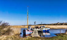 Tradtional Fishing Fjord Boats, Nymindegab, Denmark
