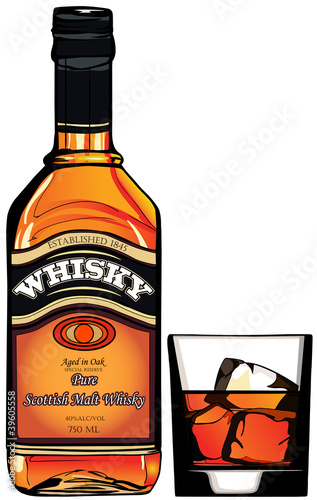 Photo sur Toile Art Studio bottle of Whisky