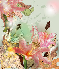 Fototapeta Do Spa shining flowers composition