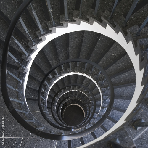 Fototapety, obrazy: Spiral ladder in office building