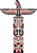 Haida Style Totem Pattern