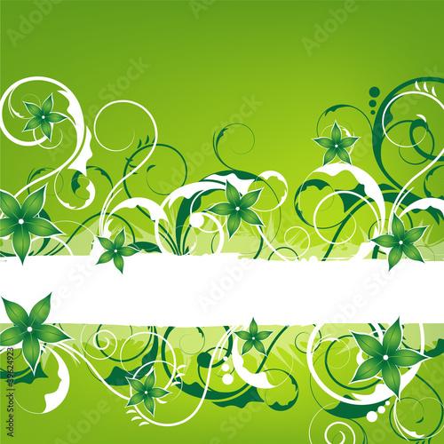 Cuadros en Lienzo green springlike vintage design