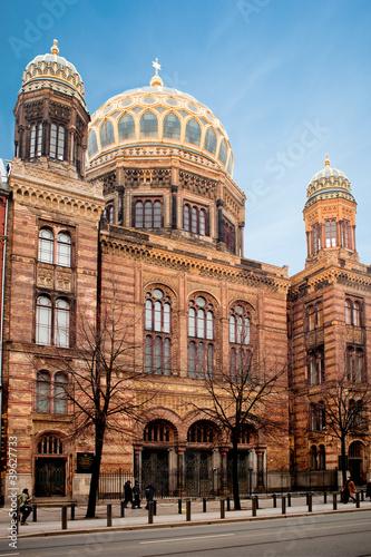 Cuadros en Lienzo Nouvelle synagogue de Berlin - Allemagne