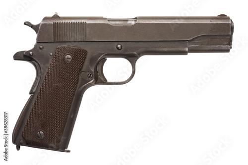 Fotografie, Obraz  Used Military Pistol 1911A1