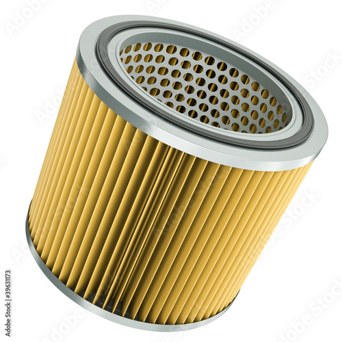 Photo  Car engine air filter. 3D render.