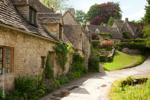 Traditional Cotswold cottages in England. Bibury , UK. #39639104