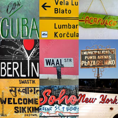 Fotografija  World travel signs