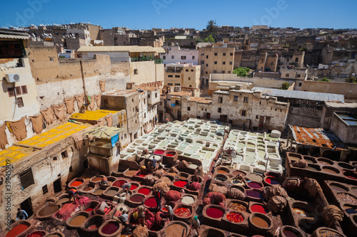 Poster Marokko Tanneries of Fes (2), Morocco, Africa