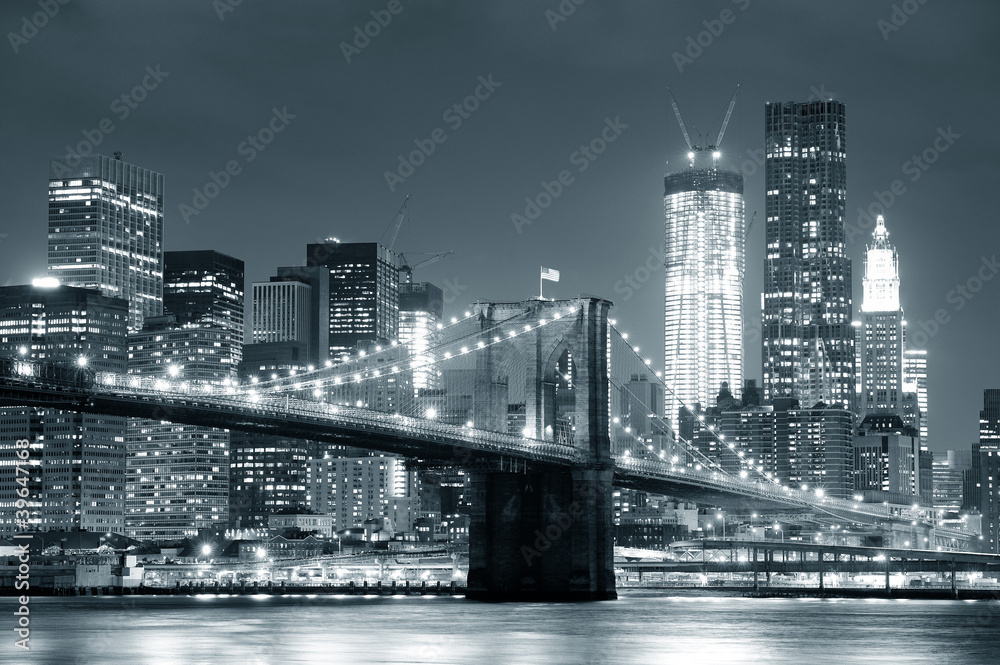 Fototapety, obrazy: New York City Brooklyn Bridge