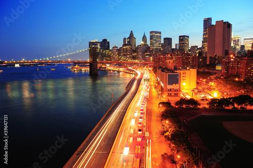 Fototapeta premium New York City Manhattan downtown