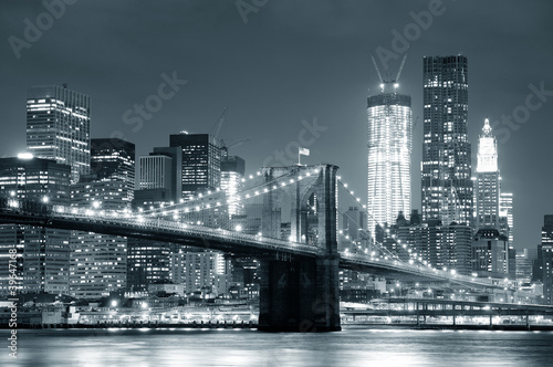Fotografie, Obraz  New York City Brooklyn Bridge