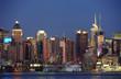 New York City Manhattan midtown skyline at dusk
