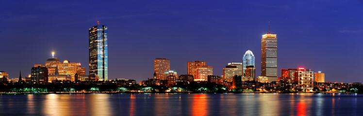 Panel Szklany Miasto Nocą Boston night scene panorama