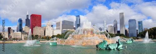 Canvas Print Chicago  Buckingham fountain