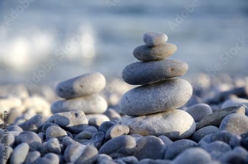 Doppelrollo mit Motiv - sea and stone