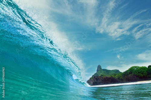 Waves in Fernando de Noronha Island in Brazil