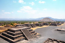 Ruins Of Teotihuacan City, Mex...