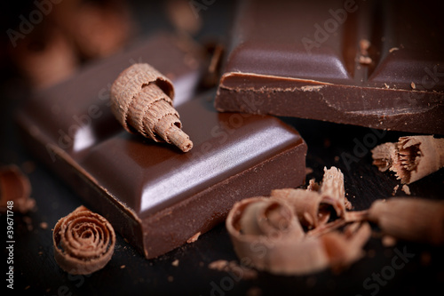 Fotografía  zart bittere Schokolade