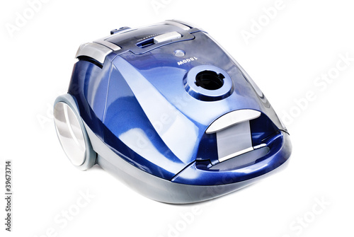 Fotobehang Cars Blue-gray vacuum cleaner isolated on white background