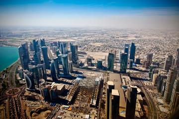fototapeta widok na nowoczesnej Doha