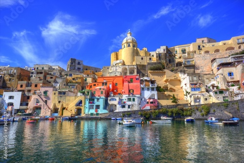 Garden Poster Napels Procida, Isola nel mar mediterraneo, Napoli
