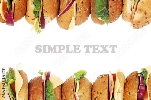 Staande foto Snack Fresh sandwiches
