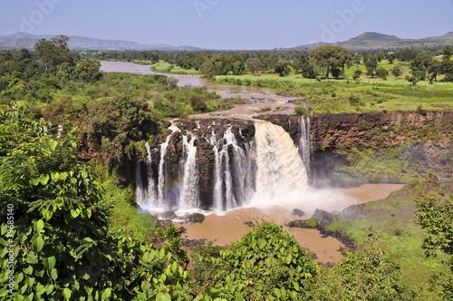 Staande foto Afrika Blue Nile falls in Ethiopia