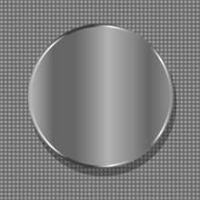 Vector Blank Circle Metal Plate