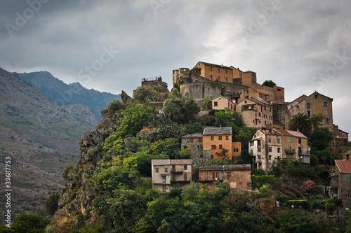 Fotografie, Obraz  View of Corte, Corsica, France