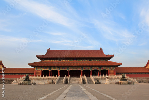 Tuinposter China Forbidden city in Beijing, China