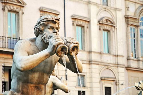 Fotografie, Obraz  Roma, Piazza Navona