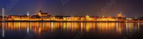 Night panorama in Torun Fototapeta