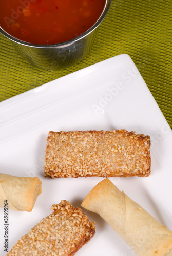 Papiers peints Entree Crunchy Chinese appetizers