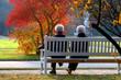 canvas print picture - Herbsttag im Park