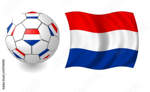 Photo  netherlands flag ball