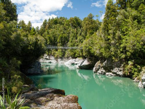 Cadres-photo bureau Bestsellers Pont suspendu dans les gorges d'Hokitika