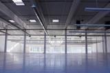 empty industrial hall