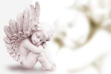 Träumender Engel Sepia