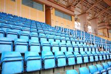 Blue Seats On Stadium