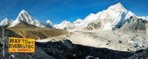 Wall Murals Nepal Everest and Nuptse from Kala Patthar