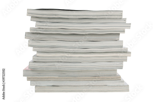 Stack of old magazines unnecessary - Buy this stock photo