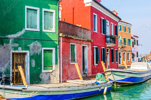 Colorful houses Burano. Italy Slika na platnu