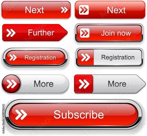 Poster  Vorwärts hoch-detaillierte Web Button-Sammlung.
