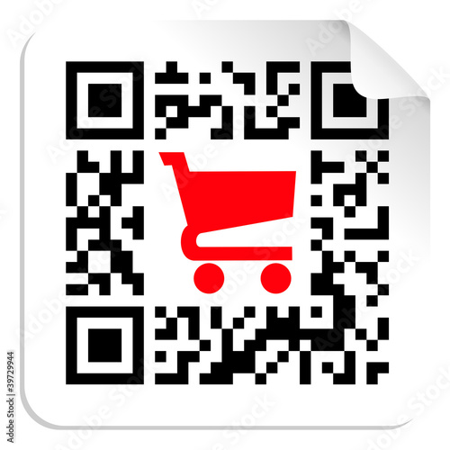 Foto op Aluminium Pixel Buy label sign QR code