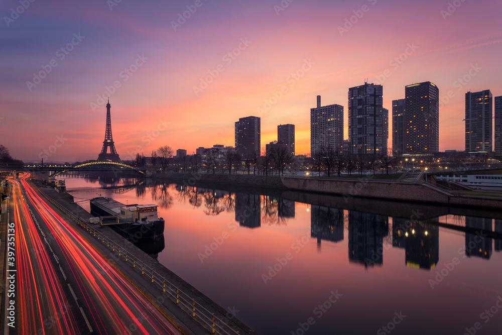 Fototapety, obrazy: Paris sunrise / Paris lever de soleil