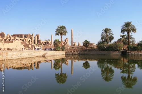 Tuinposter Egypte Karnak, Temple Complex in Luxor, Egypt