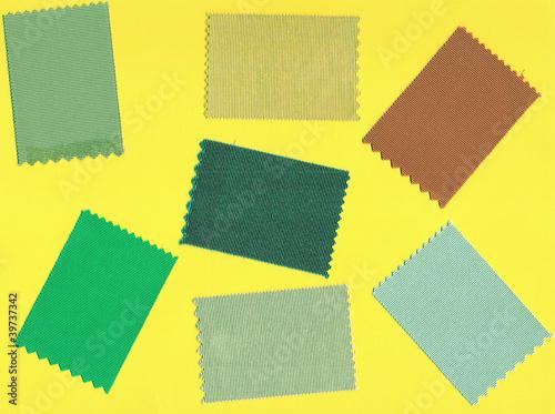 Fotografia, Obraz  Echantillons de tissus de couleurs .