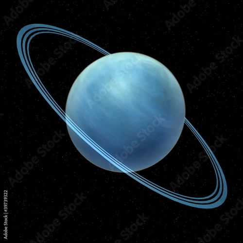 Plakat  3d render of uranus planet