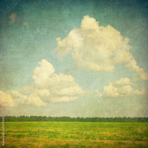 Photo sur Toile Retro grunge image of a field